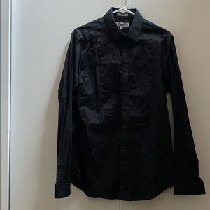 Men's black designer shirt